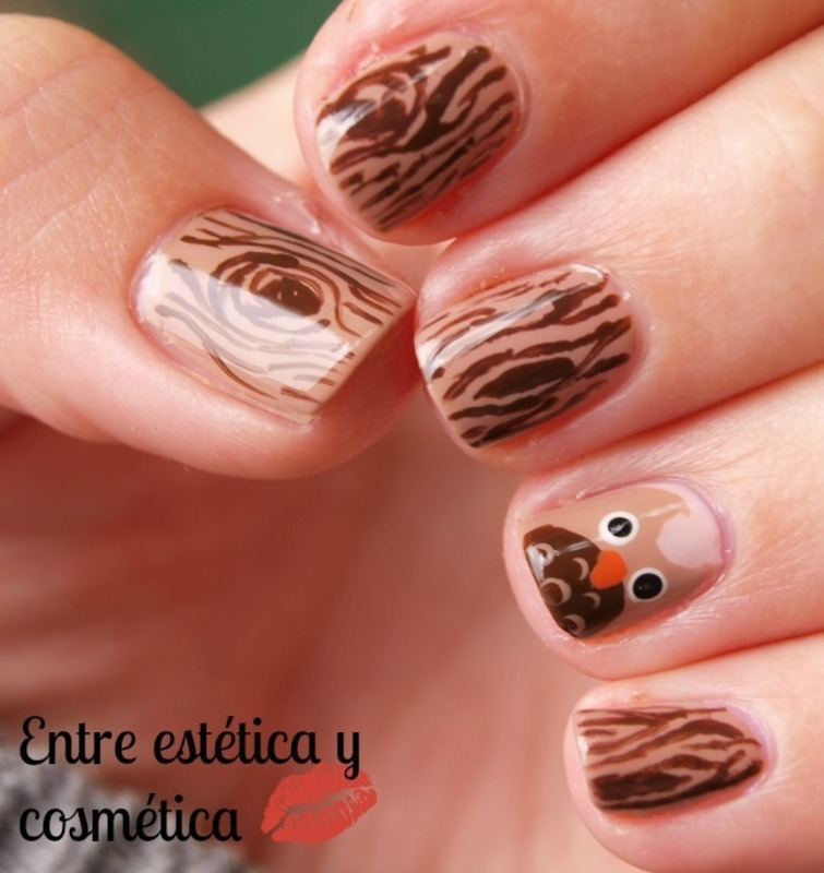Owl nails  nail art by MartaRuso