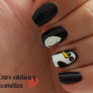 Gunter - Adventure Time nail art by MartaRuso