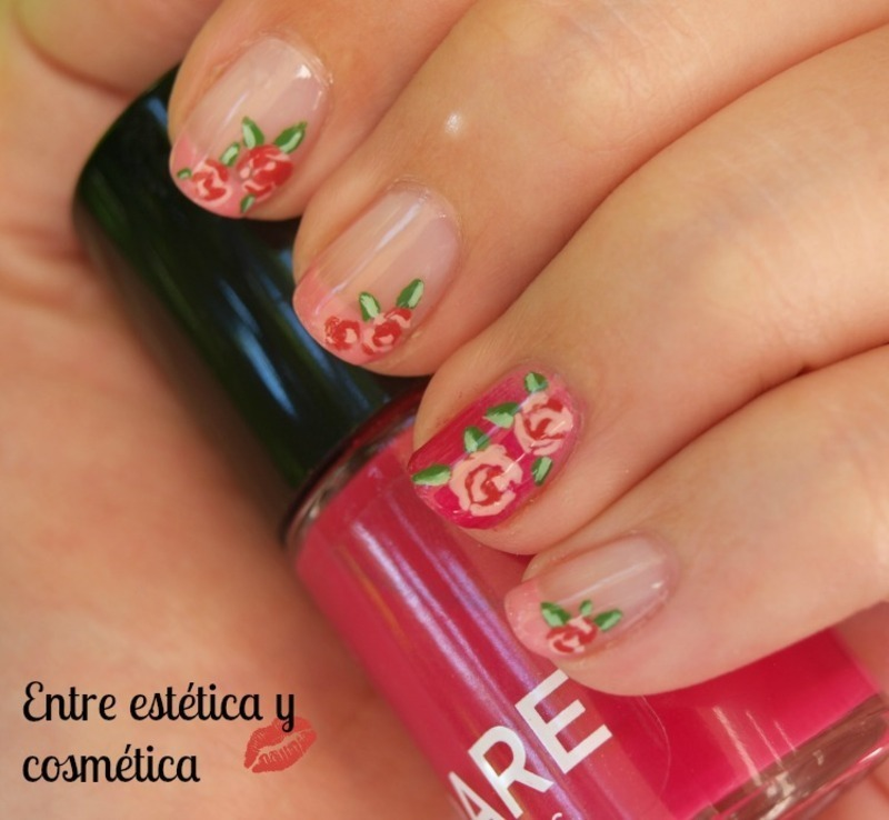 Vintage Roses nail art by MartaRuso