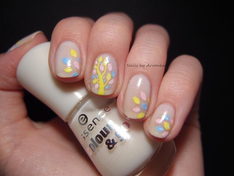 Spring Tree nail art by Veronika Sovcikova