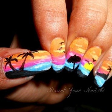 Summer Break nail art by Vidula Kulkarni