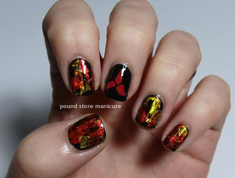 Klingon nail art by Pound Store Manicure