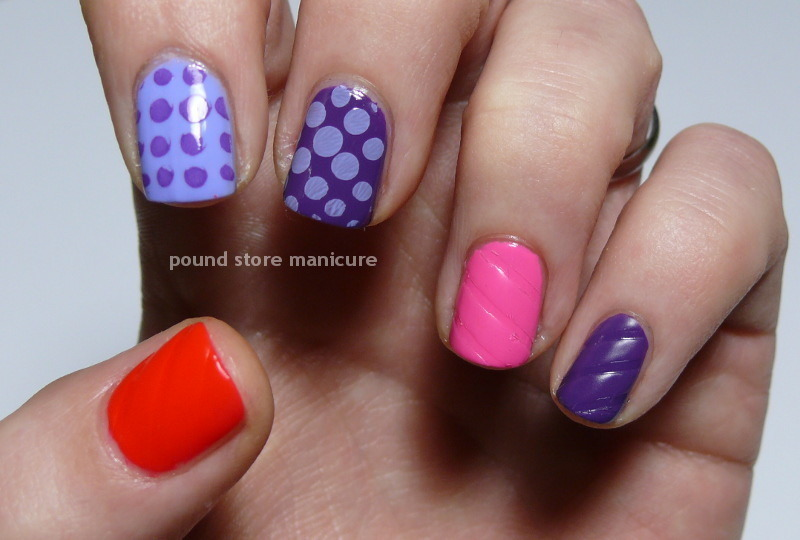Pop Art nail art by Pound Store Manicure