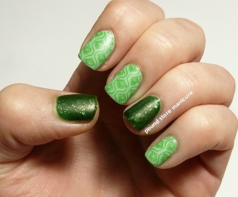 Spring Greens nail art by Pound Store Manicure