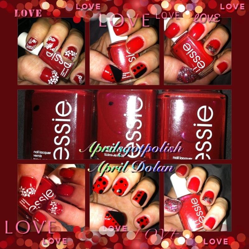 essie love nail art by April Dolan