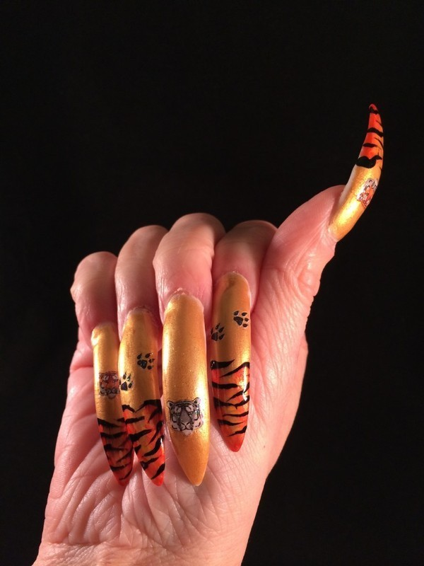 Tiger Joby Nail Art Stickers nail art by Tygerr Recchia - Nailpolis ...