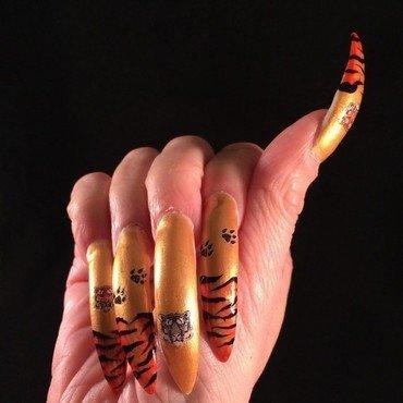Tiger Nails nail art by Tygerr Recchia - Nailpolis: Museum of Nail Art