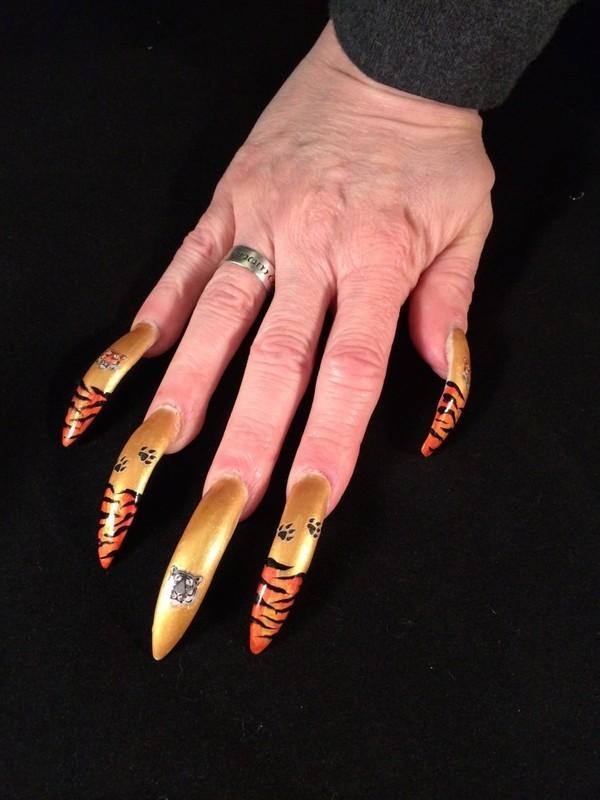 Tiger Stickers From Joby Nail Art By Tygerr Recchia Nailpolis