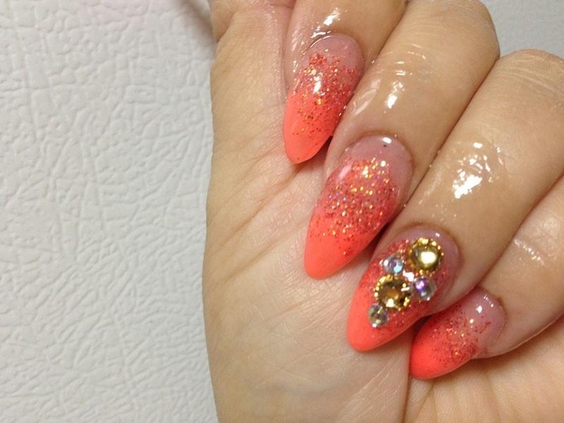 spring love  nail art by mel