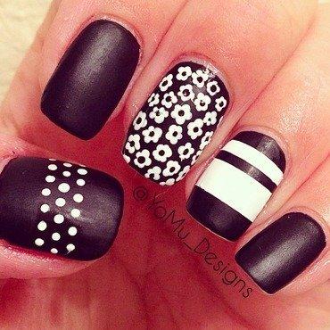 Pansy Print nail art by JMura_Designs