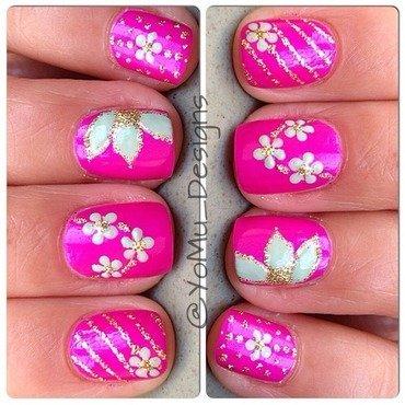 Neon Spring nail art by JMura_Designs