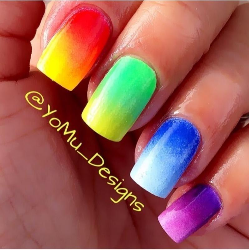 Skittles nail art by JMura_Designs