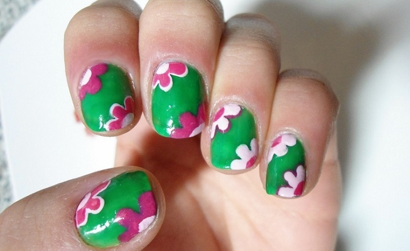 Flowers nail art by GepeNails