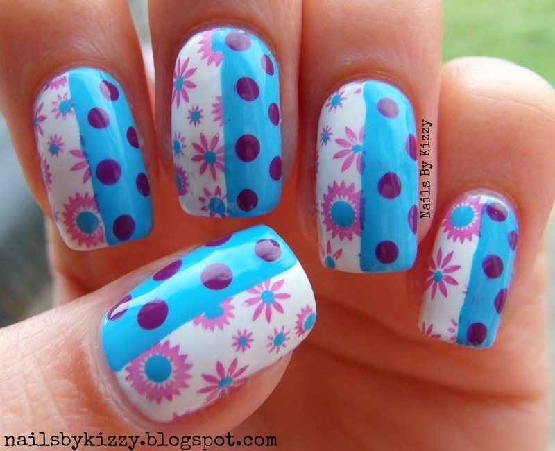 Spring Flowers! nail art by Kizzy