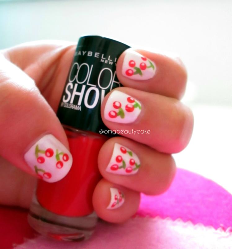 Cherry Blossom  nail art by JOUJOU