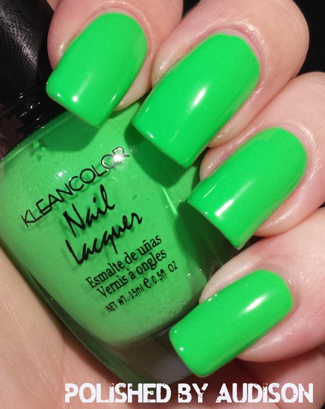 Kleancolor Bikini Green Swatch by Ashley Hoopes