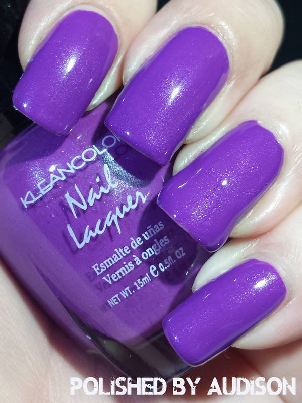 Kleancolor Neon Purple Swatch by Ashley Hoopes