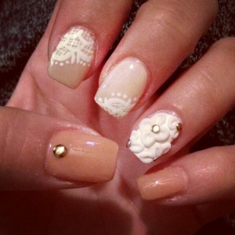 oh so delicate nail art by Ashley Guyaux