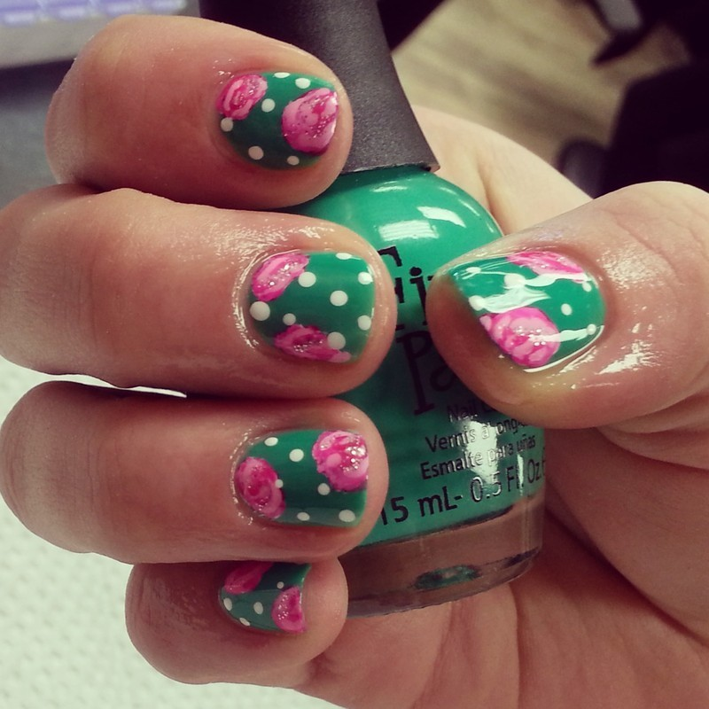 spring is here  nail art by Ashley Guyaux