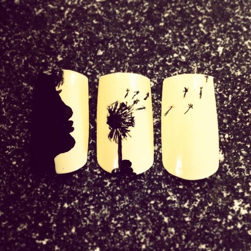 make a wish  nail art by Ashley Guyaux