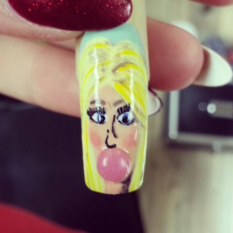 bubble yumm nail art by Ashley Guyaux