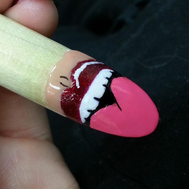 miley nail art by Ashley Guyaux