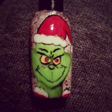 hes a mean one nail art by Ashley Guyaux