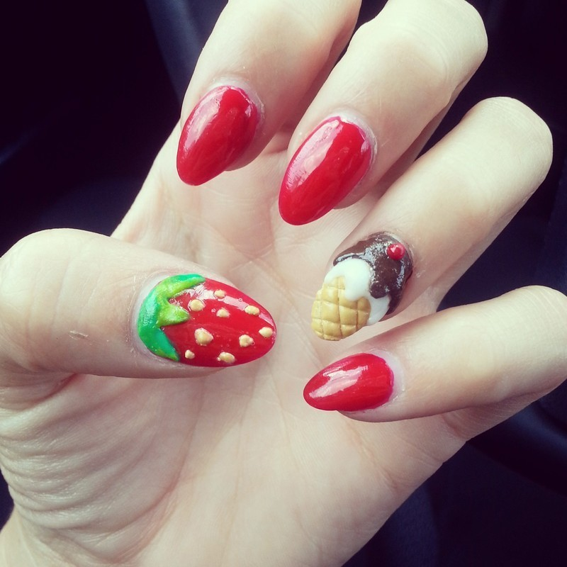 summertime sweet tooth nail art by Ashley Guyaux