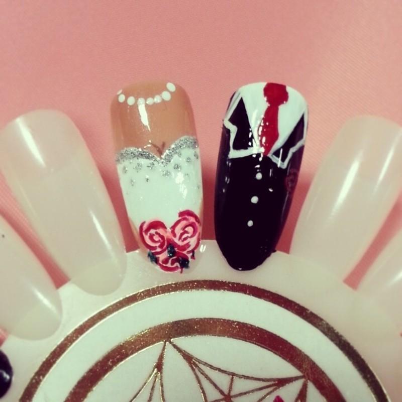 true love nail art by Ashley Guyaux