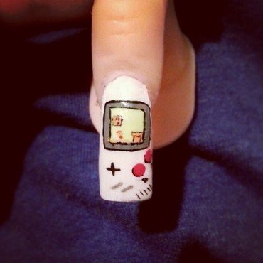 game over nail art by Ashley Guyaux