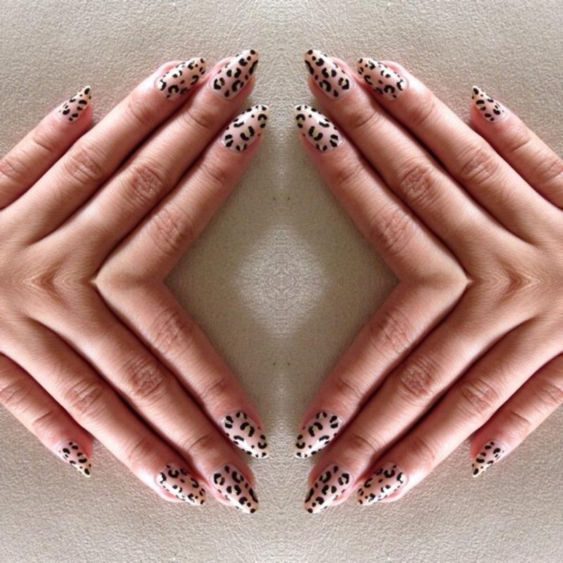 Leopard stilettos nail art by Kjorg001
