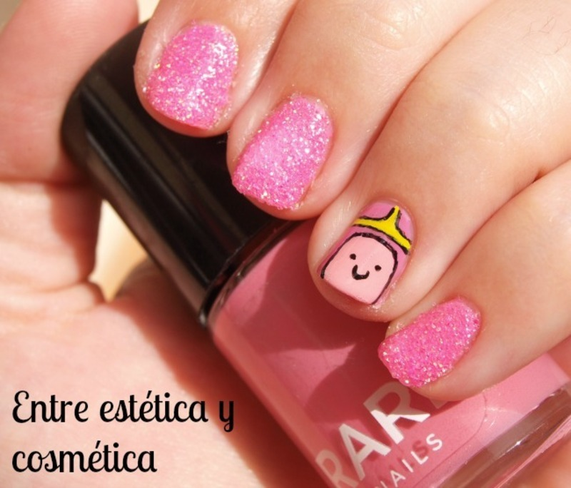 Princess Bubblegum - Adventure Time nail art by MartaRuso
