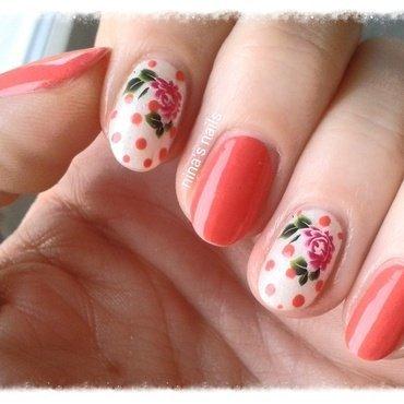 spring roses nail art by Nina's nails