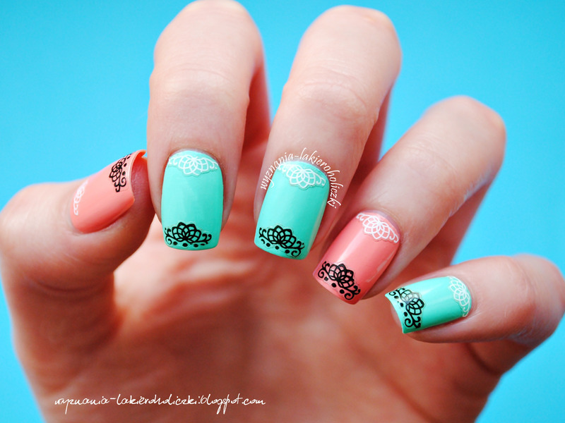 Lace nail art nail art by Olaa
