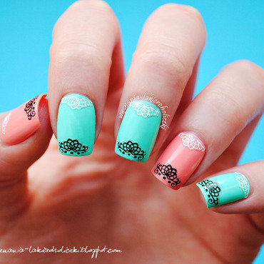 Lace nail art thumb370f
