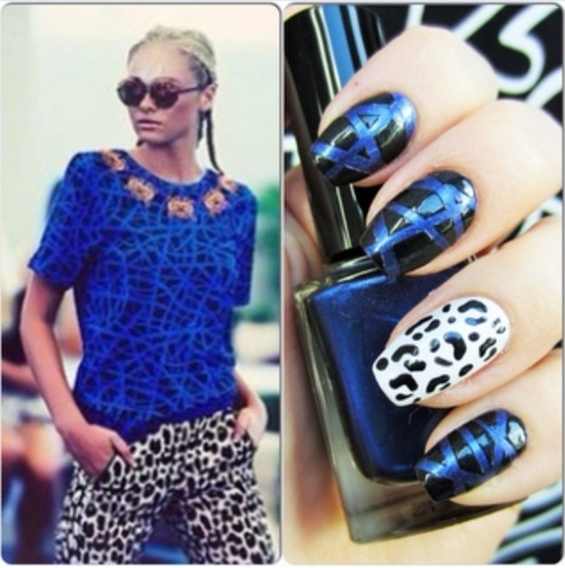 House of Holland nail art by Jane