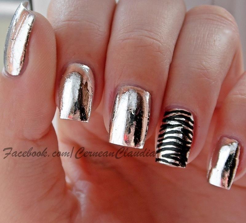 Mirror Nails nail art by Claudia