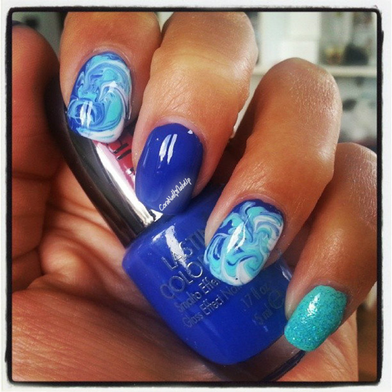 In the sea nail art by coranailendmakeup