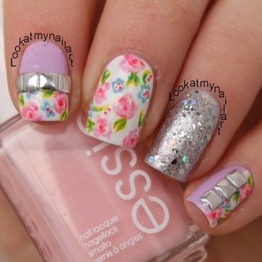 Spring floral nail art by Sabine