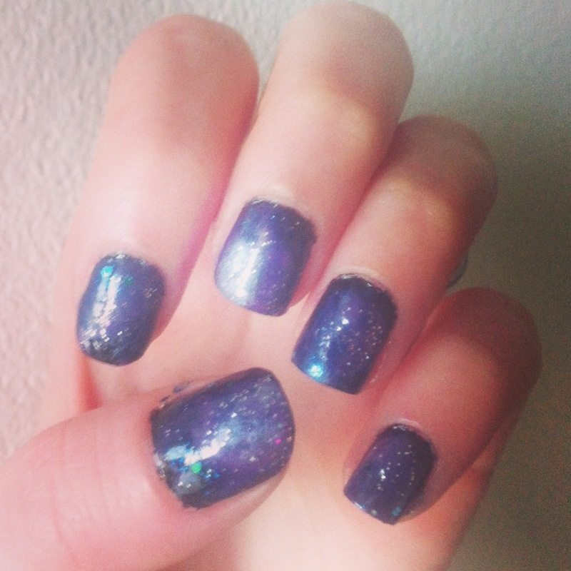 Galaxy  nail art by Bianca