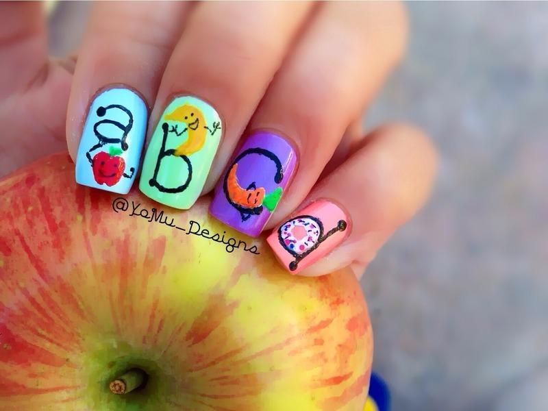 Alphabet Delight nail art by JMura_Designs