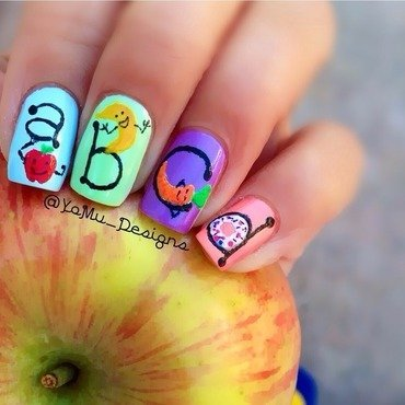 Alphabet Delight nail art by JMura_Designs