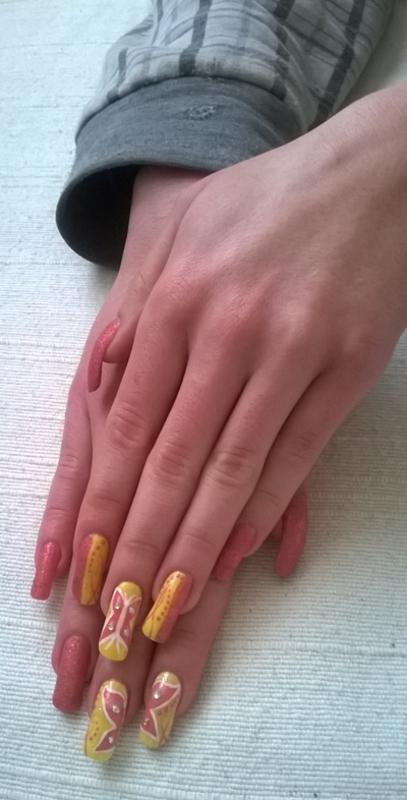Butterfly nail art nail art by Mila
