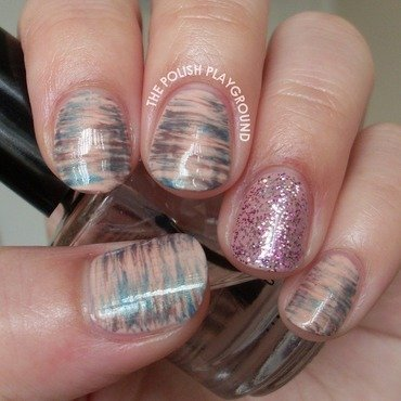 Neutral with a Pop Haze nail art by Lisa N