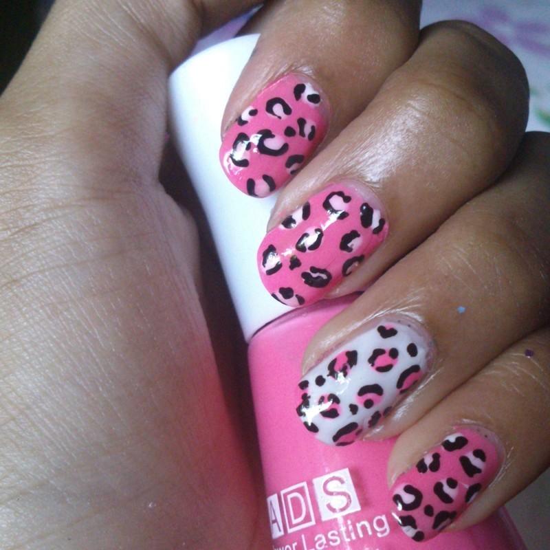 Cheetah Print nail art by Alisha