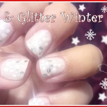 Winter Glittery snow land nail art by Tina Rai Pun