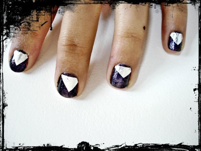 Edgy Angled Nails nail art by Tina Rai Pun