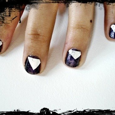 Edgy Angled Nails nail art by Tina Rai Pun