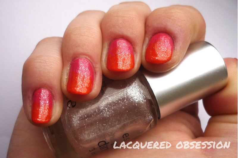 My first gradient nail art by Lacquered Obsession