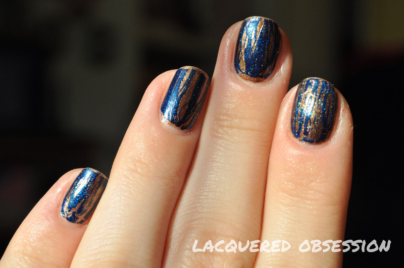 Brocade nail art by Lacquered Obsession